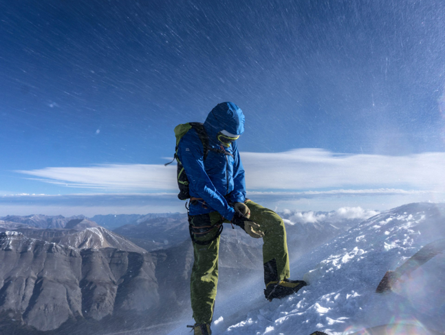 Summit of Mt. Athabasca.  Photo: Uisdean Hawthorn