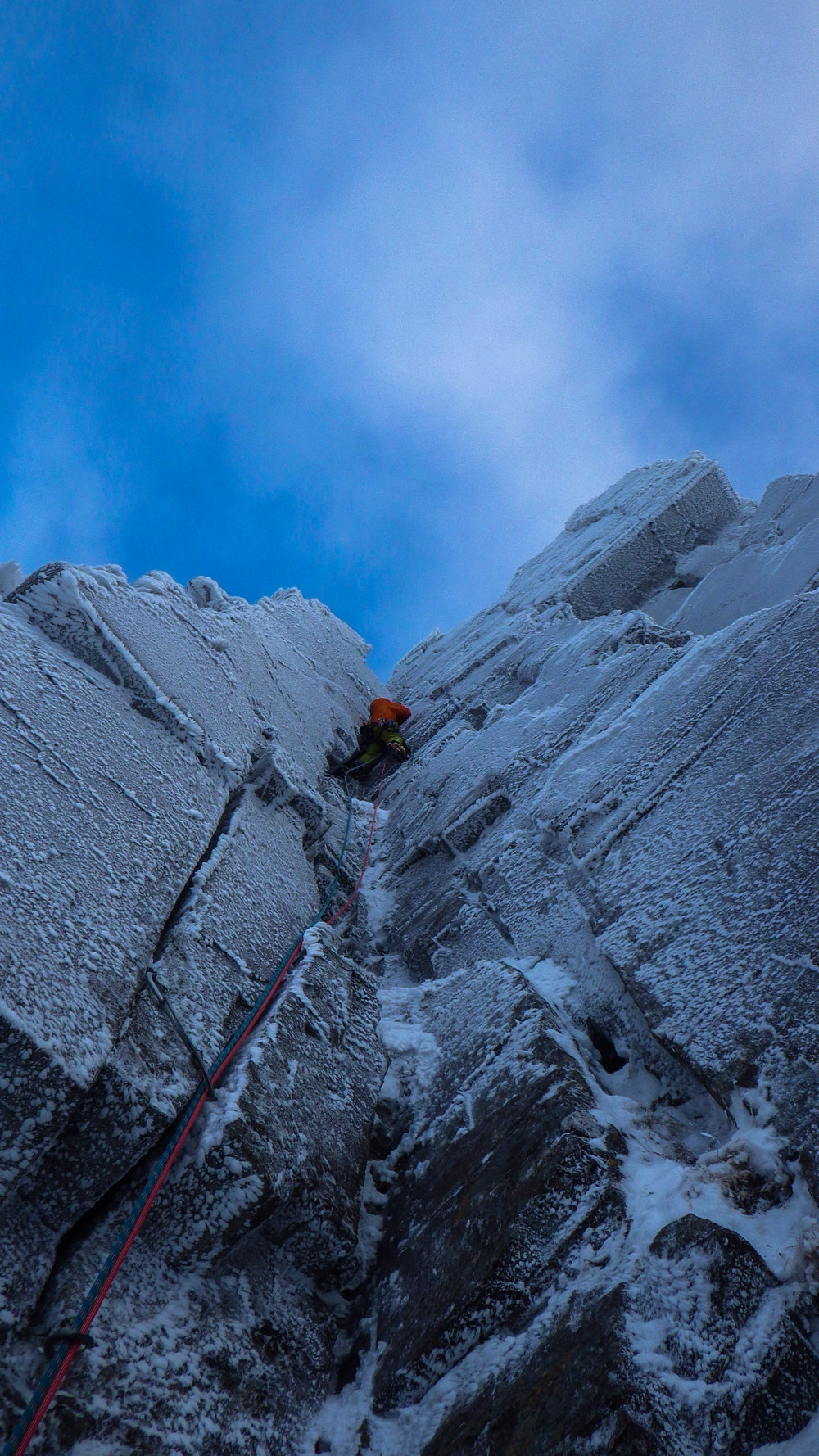East Face Direct Direct (P4). Photo: Matija Volontar