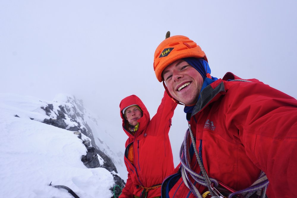 summit of mt. alberta after climbing the house/anderson route. canada. photo: uisdean hawthorn