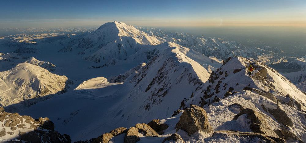 descending the west buttress after summiting denali. photo: uisdean hawthorn