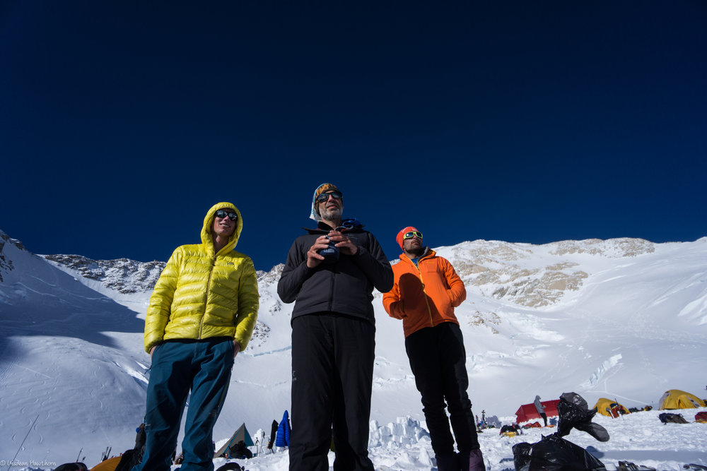 hanging out at 14k camp in some rare good weather, and acclimatising on denali. photos: uisdean hawthorn