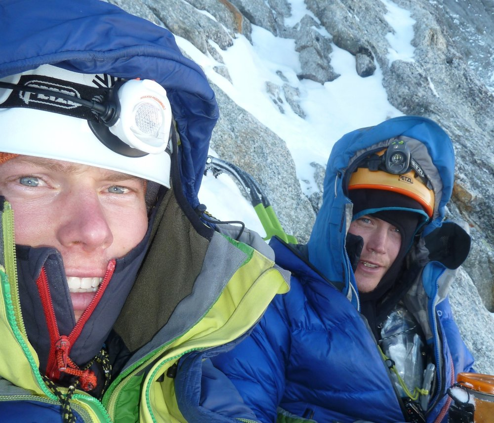 A winter ascent of the Walker Spur, Grandes Jorasses, with Pete Graham.