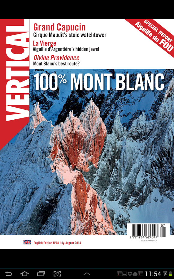 Vertical Magazine, July/August 2014.