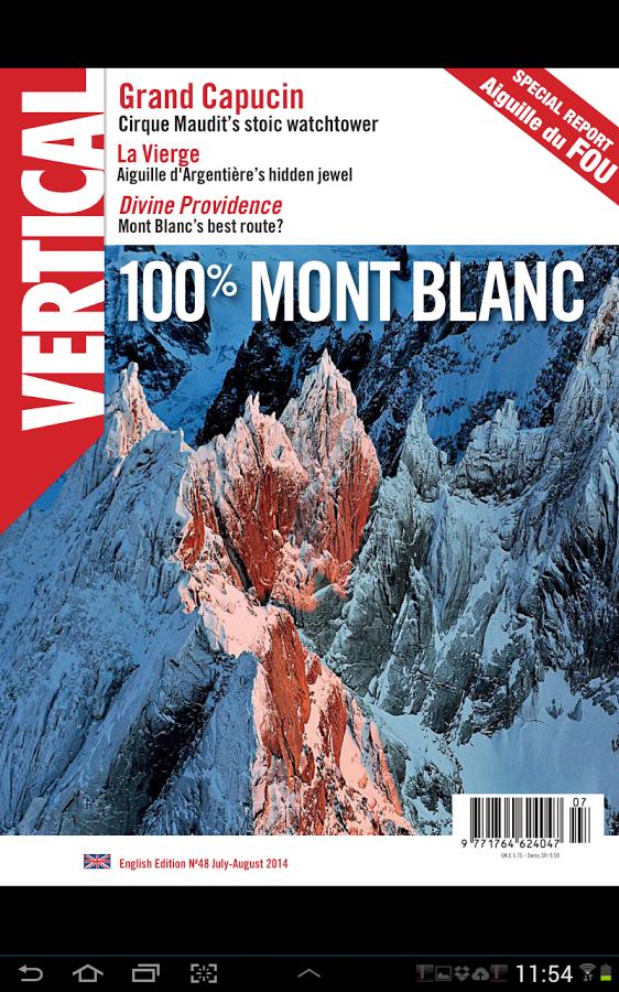 Vertical Magazine, July/August 2014.