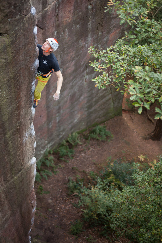 My Piano (E7 6c), Nesscliffe. Photo: Rob Greenwood