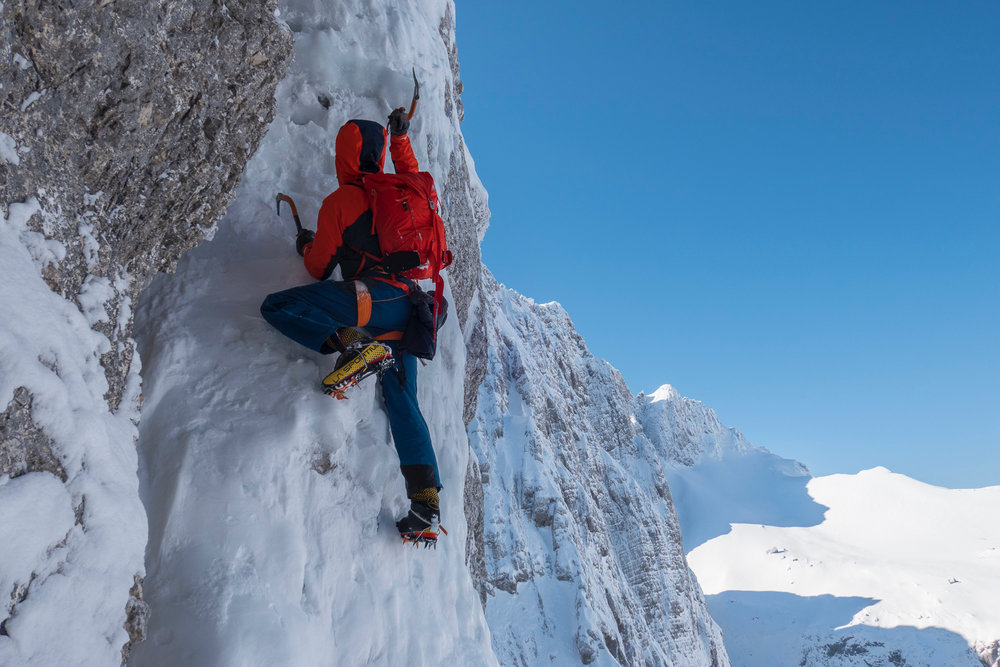 A cold but enjoyable day in the Slovenian Alps. Photo: Ales Cesen