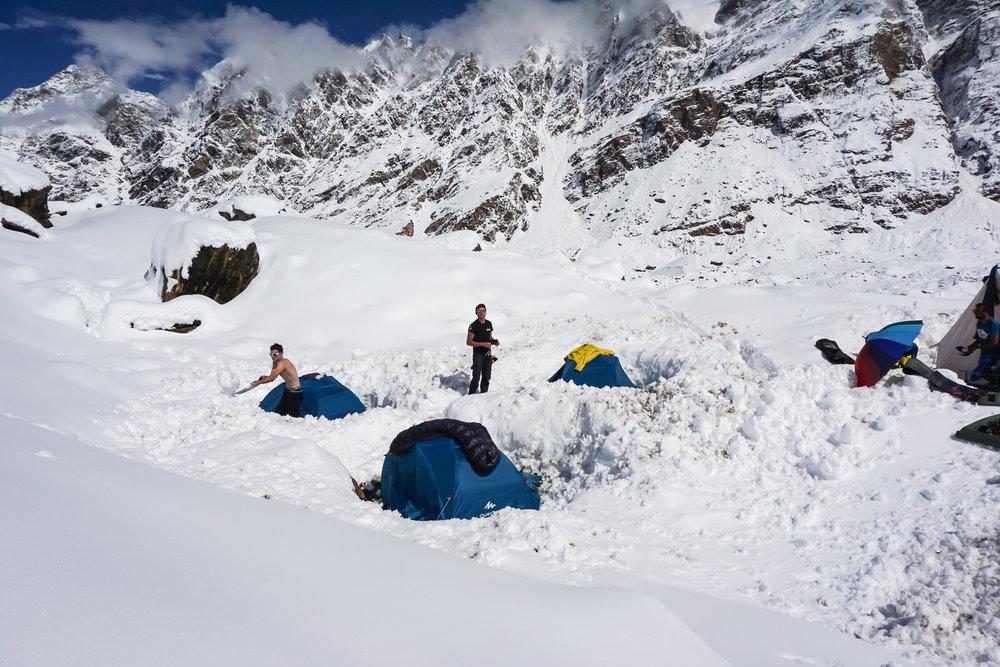 hagshu base camp. Jammu and Kashmir, India.