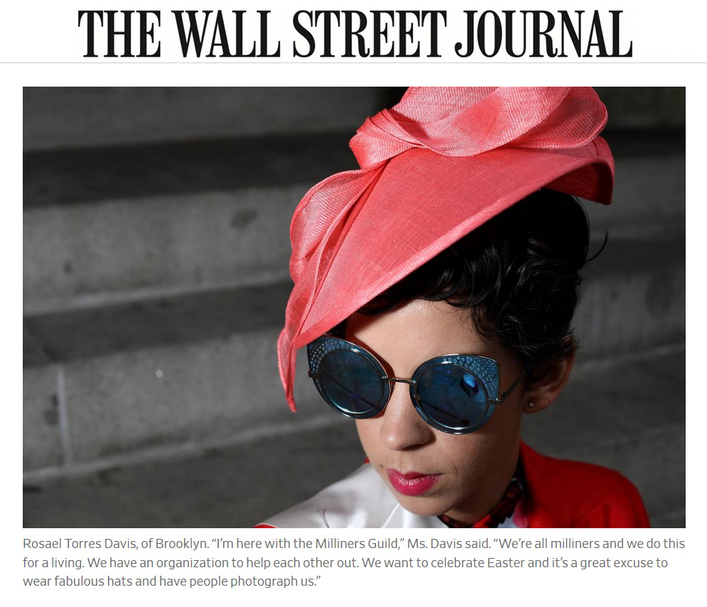 RoCha Millinery at NYC's Easter Parade April 2018 Photographed by Bess Adler from the WSJ
