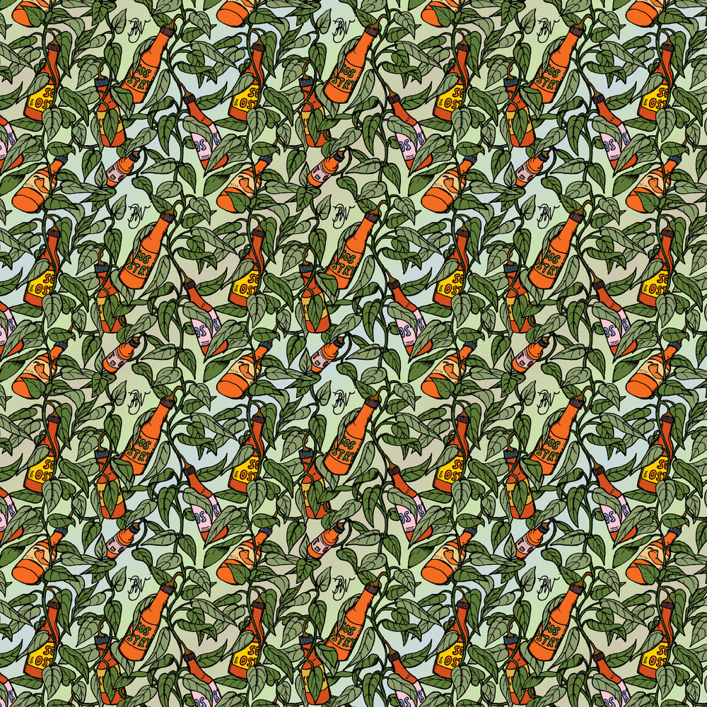 'Hot Sauce Tree' pattern