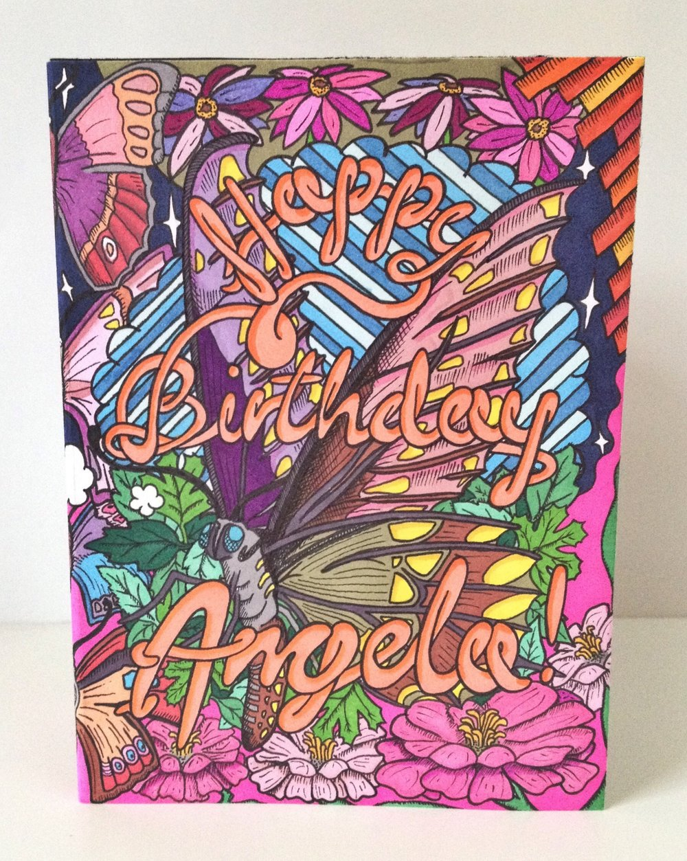 Angela's birthday card (1 of 3)