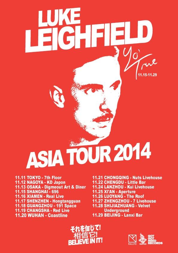 Luke Leighfield tour poster & t-shirt