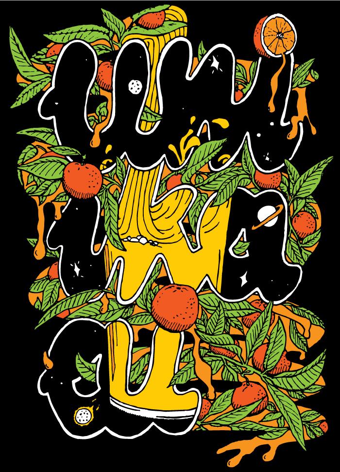 Uni Ika Ai t-shirt design