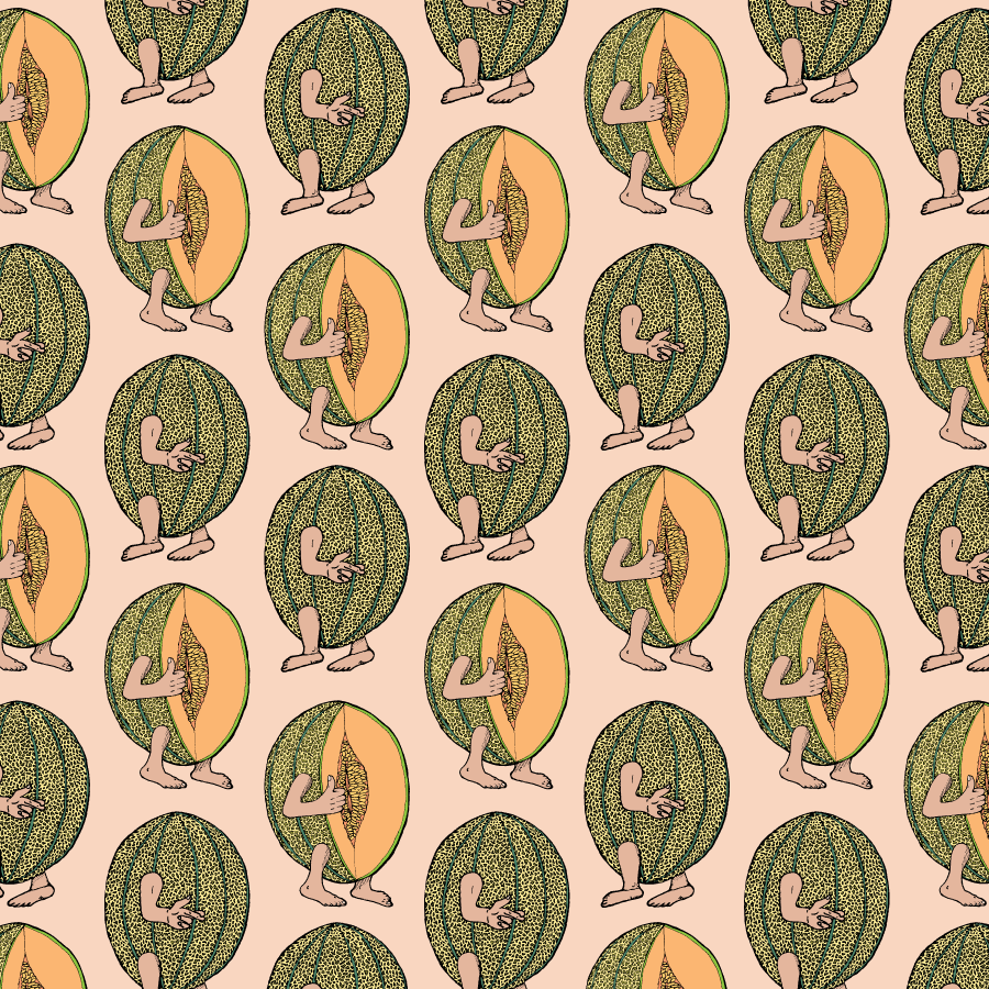'Cantaloupe' pattern & fabric design