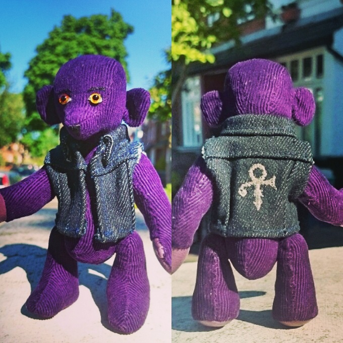 Purple Prince bear
