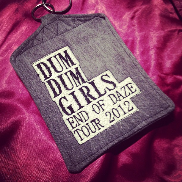 Dum Dum Girls 'End Of Daze' tour pass/purse