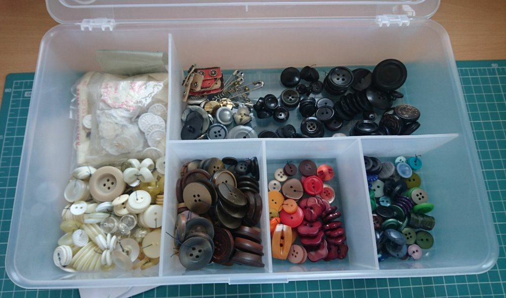 Some of the buttons, post-sorting.