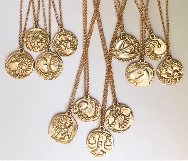 - THE ZODIAC COLLECTIONA series of pendants inspired by antique coins. Handcrafted and cast in gold, a photograph of each individual sign just went up on the site!