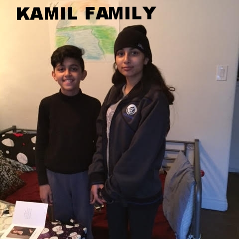 Kamil Family The Kamil Family - This is an Iraqi refugee family (mother and two teenagers (girl/16, boy/14). The daughter is in high school and speaks English well. They are refugees from Iraq who fled to Turkey first, lived in a refugee camp for 4 years, and were finally able to make it to the U.S. in late 2016. (The father of the family is unable to join his wife and children in the U.S. at this time.) Currently, the family is isolated from others in their situation, as there very few refugee families living in the neighborhood in which they've settled. They are currently living in a small one bedroom apartment, and are in need of household basics, like a futon and bedding, as well as shoes, and bicycles to use for transportatio. Thank you for any assistance you can provide!