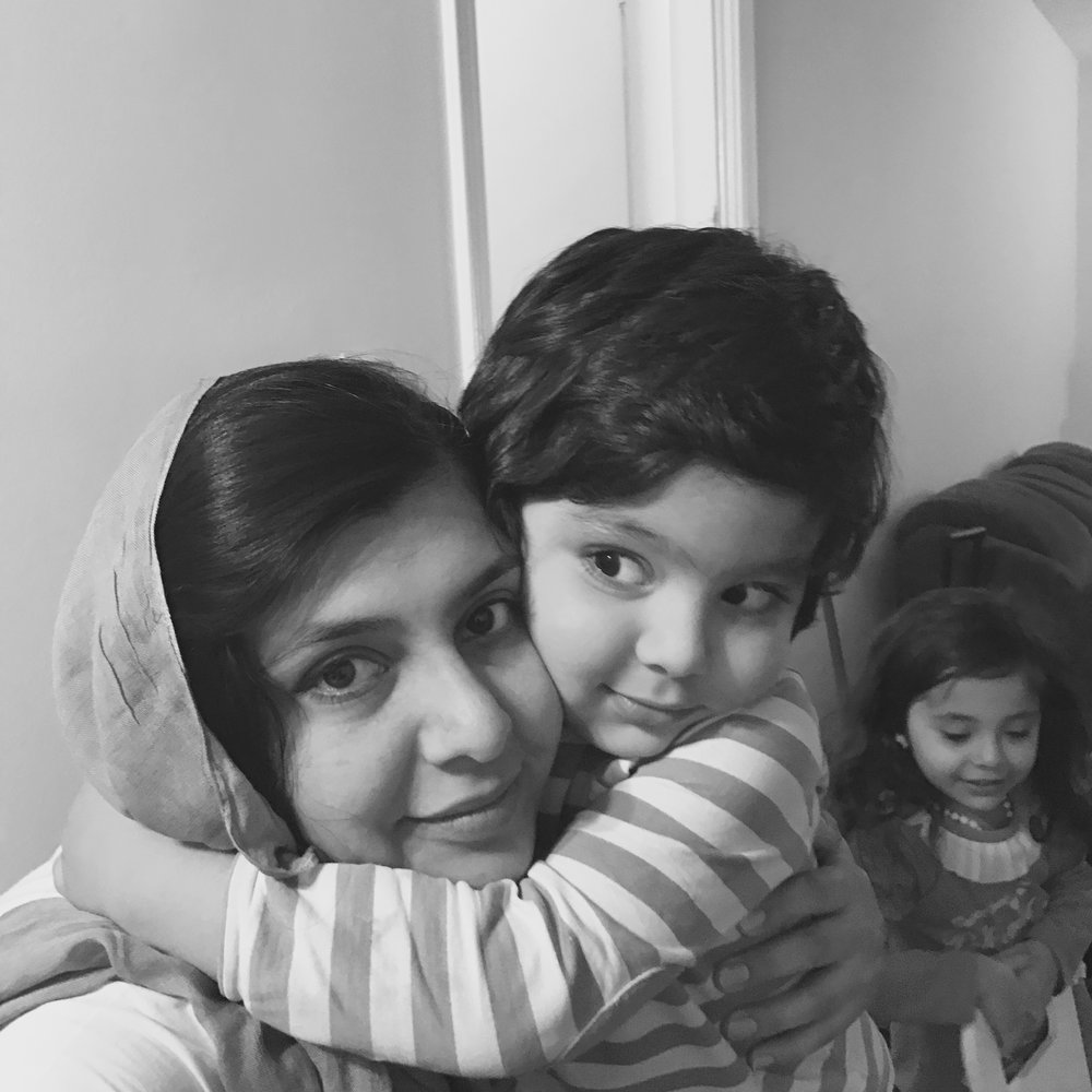 Rabia and her family