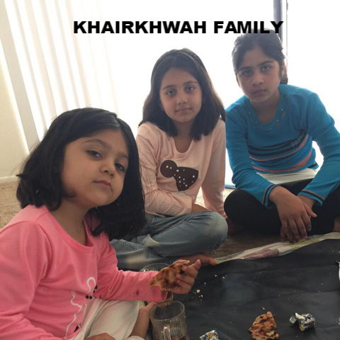 The Khairkhwah family arrived from Afghanistan on March 27 2017.  They have three daughters ages 11, 10, and 5 years old. Dad is a BBA holder and was working in Afghanistan as HR with different organizations. Their empty apartment needs these essential items.