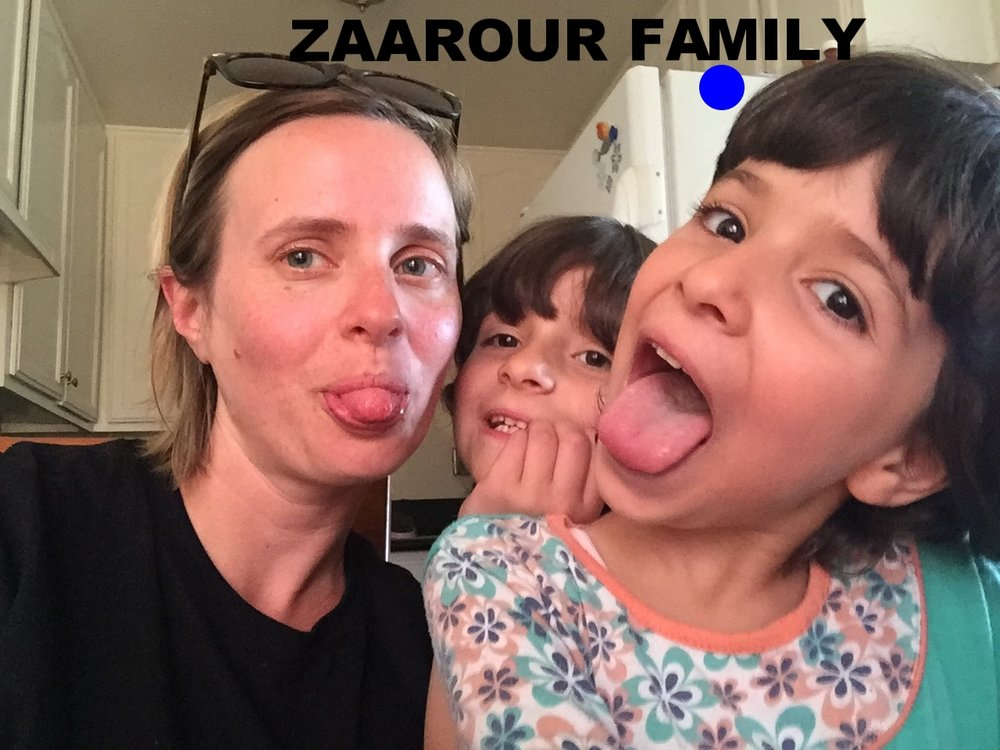 Zaarour Family Syrian family of five with twin 6 year old girls and baby boy aged 14 months. They came from Homs, Syria and spent 3 years in Jordan in a refugee camp before coming to the US in June 2016. Mom is an incredible chef!