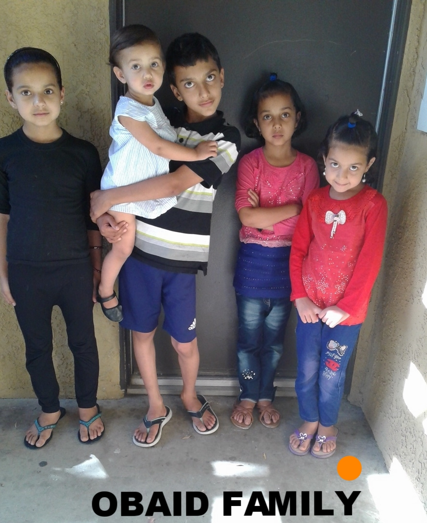 The Obaid family are an Afghan family of seven who arrived February 15 2017.  Mom, Dad with 4 girls ages 10, 8, 7 and 2 years old and one boy of 11 years old currently live together in a two bedroom apartment.  Dad   previously worked with the US Army in Afghanistan,  can speak English and he is now looking for employment. Their household essentials are listed below.