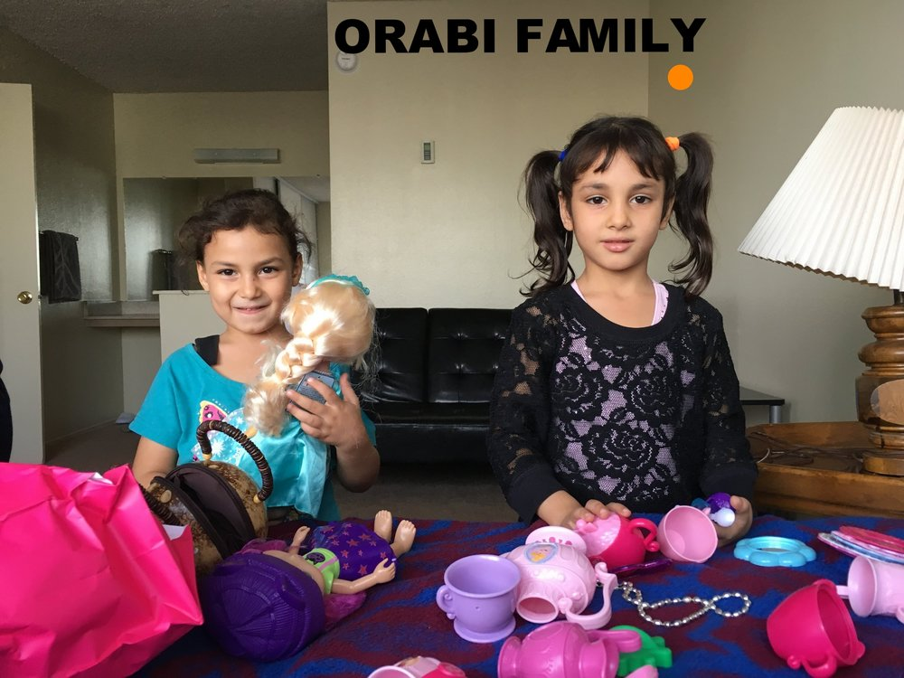 Orabi Family Beautiful Syrian family of 7: Dad, mom, and five kids ranging ages 2-11 from Damascus, Syria. Arrived in the US Sep. 1 2016 and can really use assistance with household basics