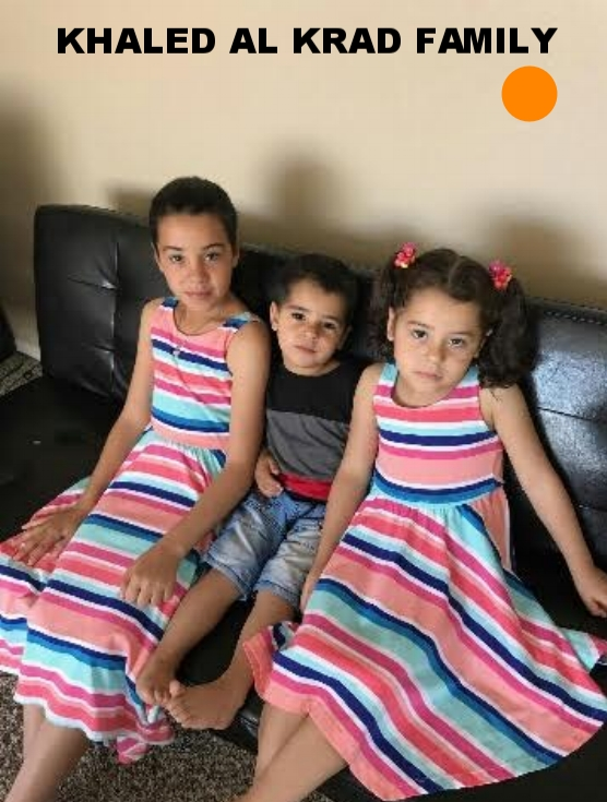 The Khaled Al Krad family have three daughters and three sons.  They left Syria in 2014, waited in Jordan for three years and arrived in the US October 2016.  They would love to have a food processor and meat grinder for their large family.