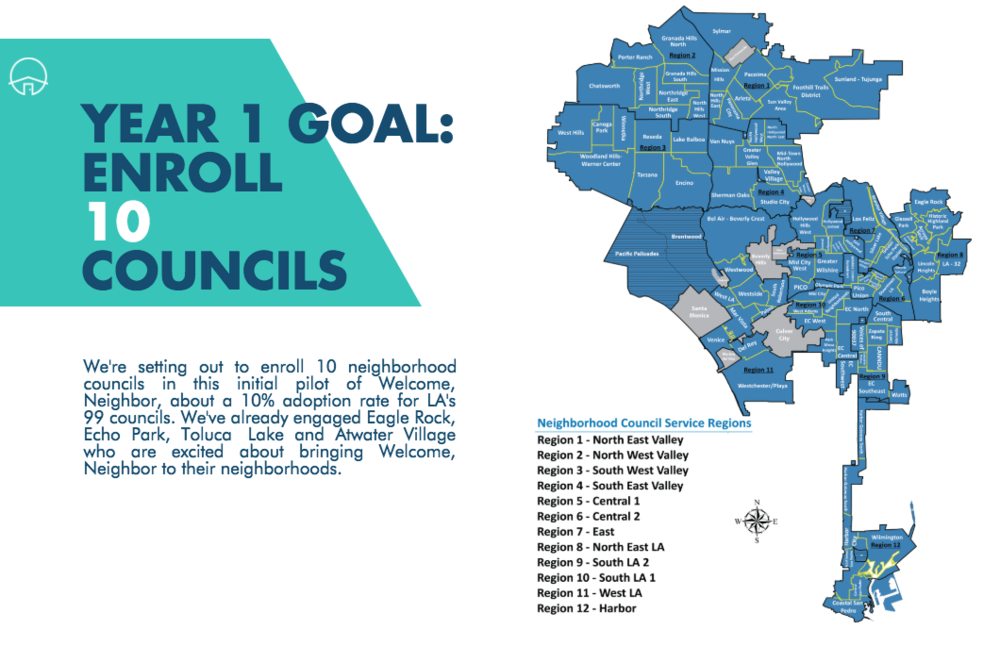 There are 99 neighborhood councils in Los Angeles