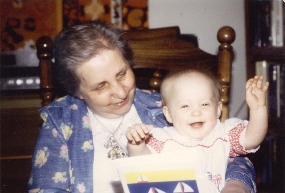 Sitara with her maternal grandmother, Mary Louise Bollinger