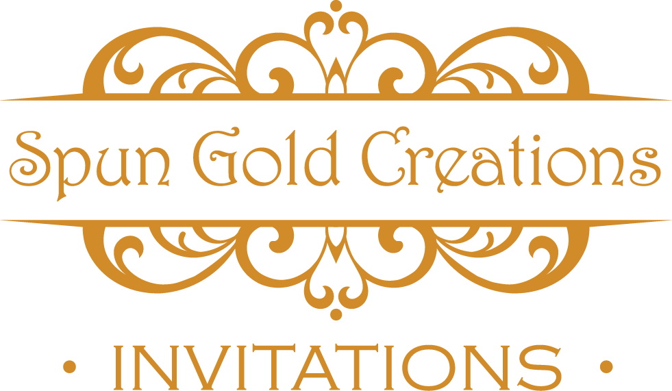 SPUN GOLD CREATIONS INVITATIONS