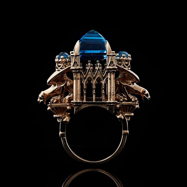 Absolutely mind blowing cathedral ring by Will G @wlgmetalcouture