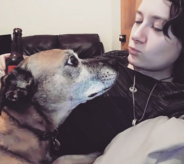 Fact: my Friday night date was better than yours #rustorbust #staffordshirebullterrier #rhodesianridgeback #sweetboy #mutt #dogsofinstagram #doggo #rusty #tgif #datenight