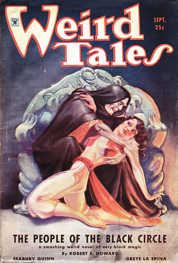 "Weird Tales, Vol. 24, Issue 3 featuring ""The Pale Man""."