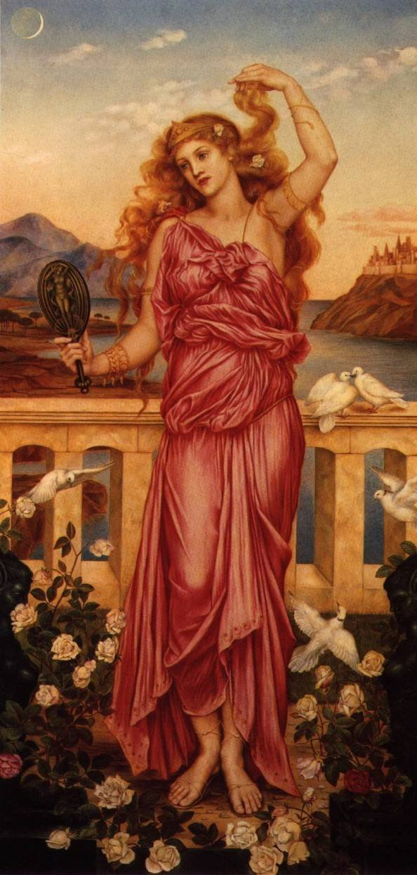 Helen of Troy, as painted by Evelyn De Morgan.