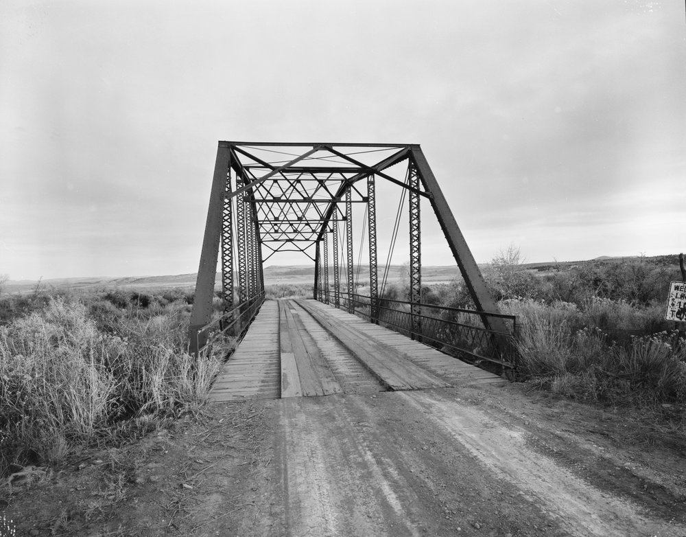 Owl Creek Bridge, as photographe  d by Clayton B. Fraser.