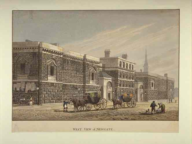 Newgate Prison, as illustrated by George Shepherd.