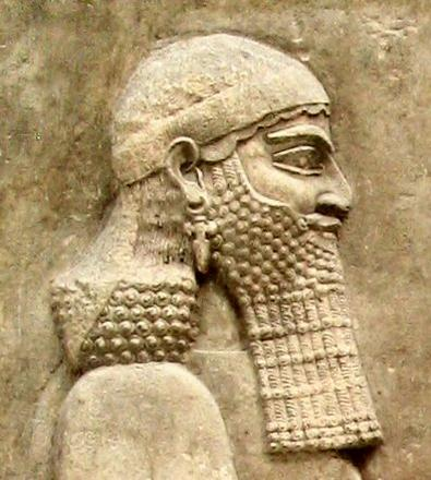 Sennacherib, King of Assyria, sculptor unknown.