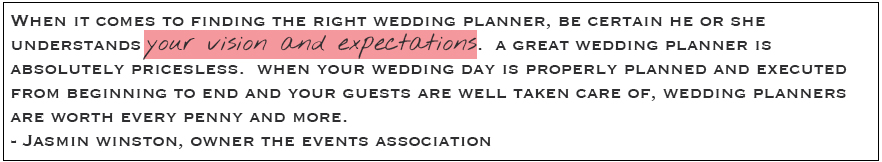 10 Tips For Choosing An Exceptional Wedding Planner Olive Rose