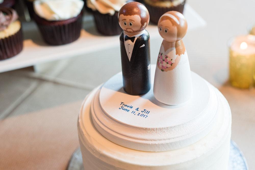 Pittsburgh Wedding Planner Cake Topper