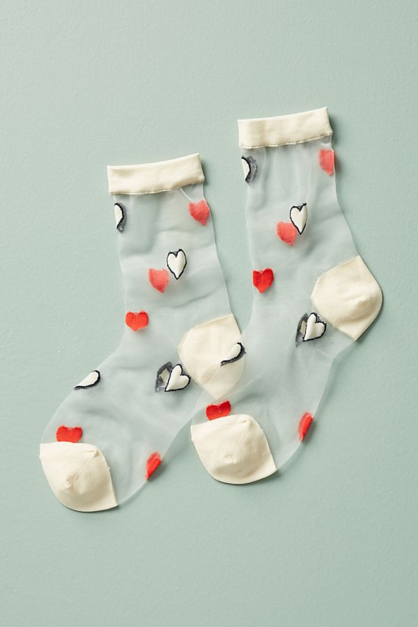 Sheer Crew Socks - $30.00