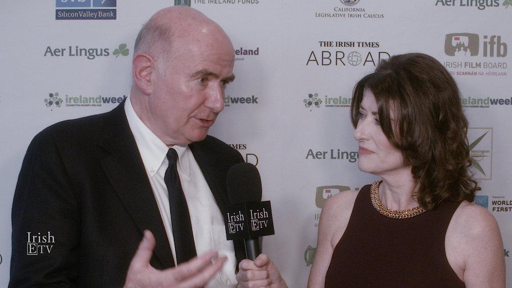 James Hickey (CEO, Irish Film Board), Brigid Boden