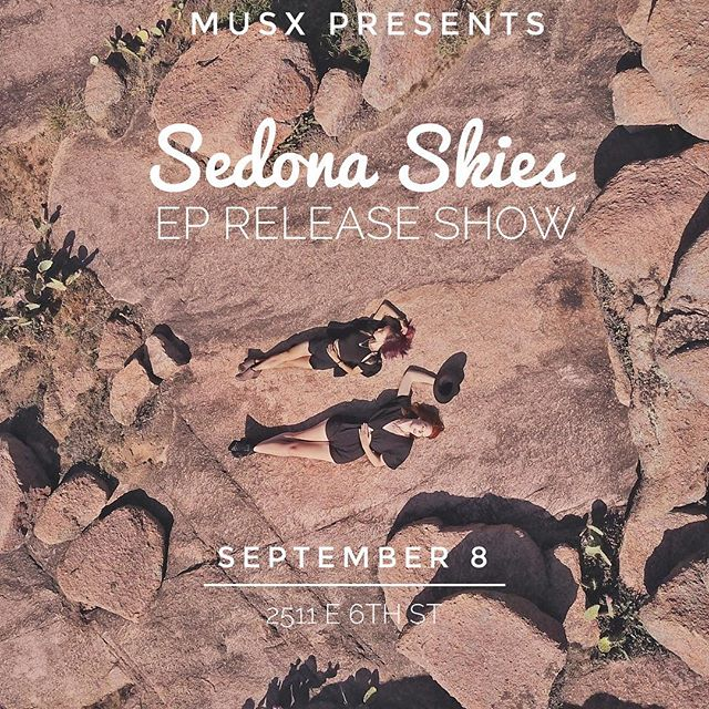 We're so excited to finally announce our EP release show in collaboration with @musxapp! Mark your calendars for Sept 8th.  No tickets needed 😁💁🏻‍♀️🌵 . 📸: @adamday