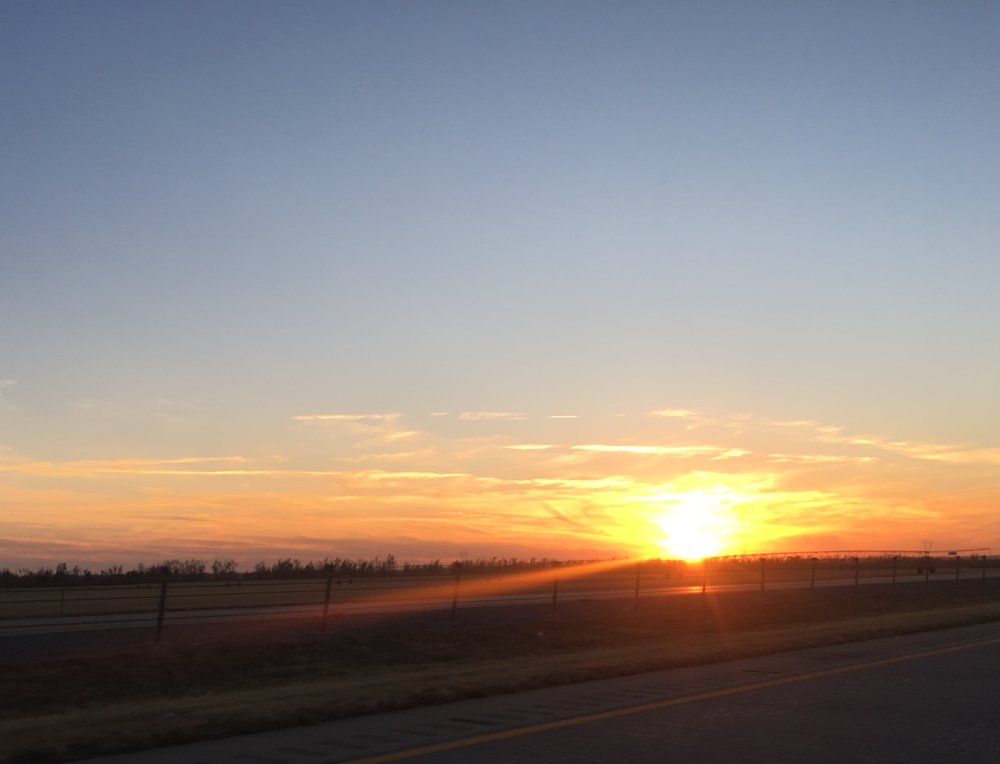 Sunrise in the Texas panhandle.