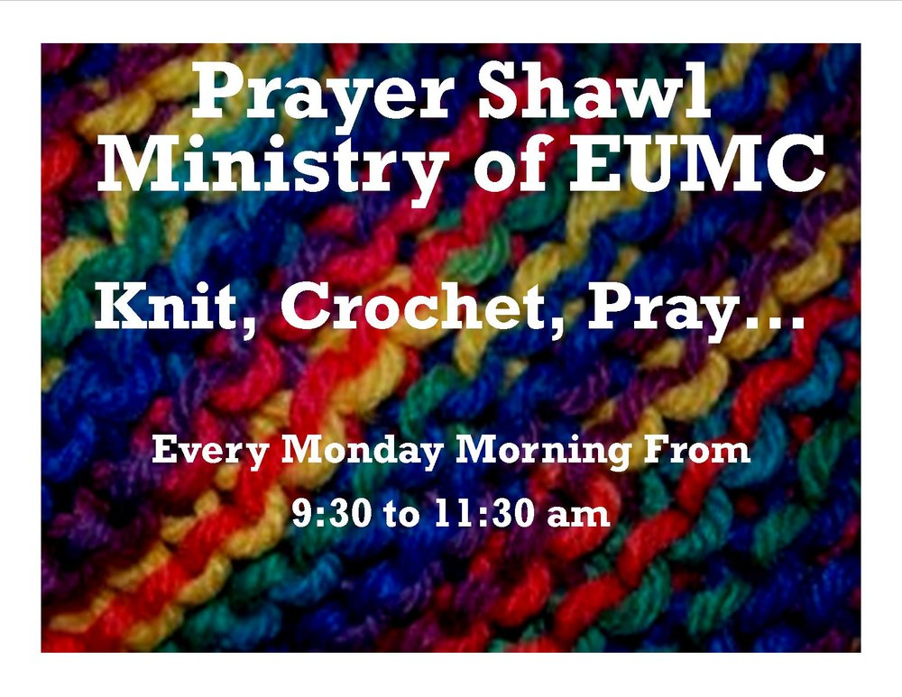 A lively group of crocheters and knitters meet every week to craft beautiful prayer shawls.  They also make warm items every winter for the children in Boulder County Foster Care.