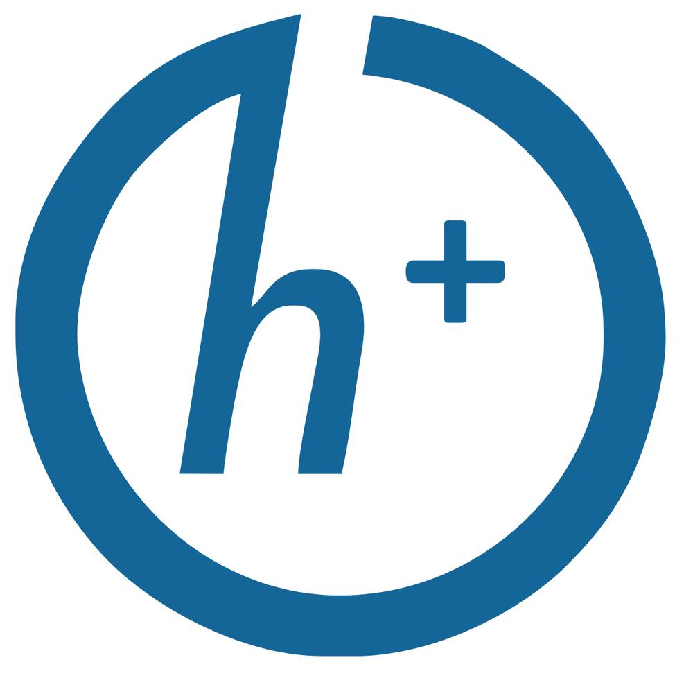 The transhumanist h+ symbol