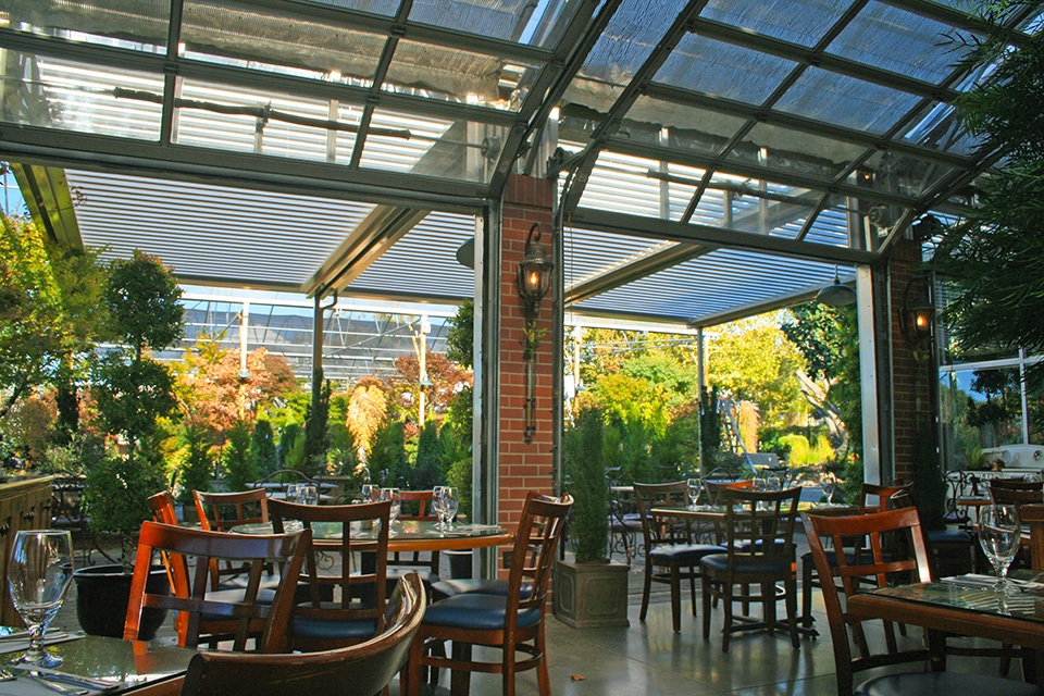 commercial restaurant dining room expansion pergola