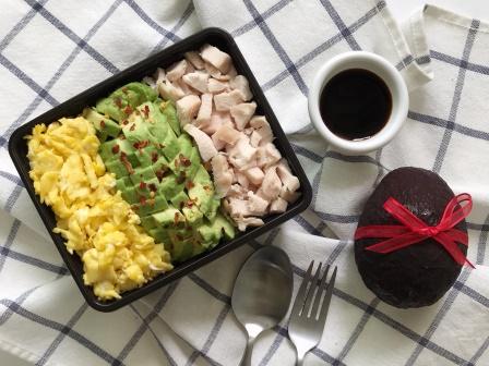avocado soboru rice bowl