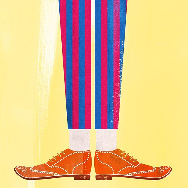 One from the vaults, originally made for long shanks.⠀ .⠀ .⠀ .⠀ .⠀ .⠀ #illustration #illustrations #instaartist #instagood #shoes #brogues #yellow #stripes #art #artistic #image