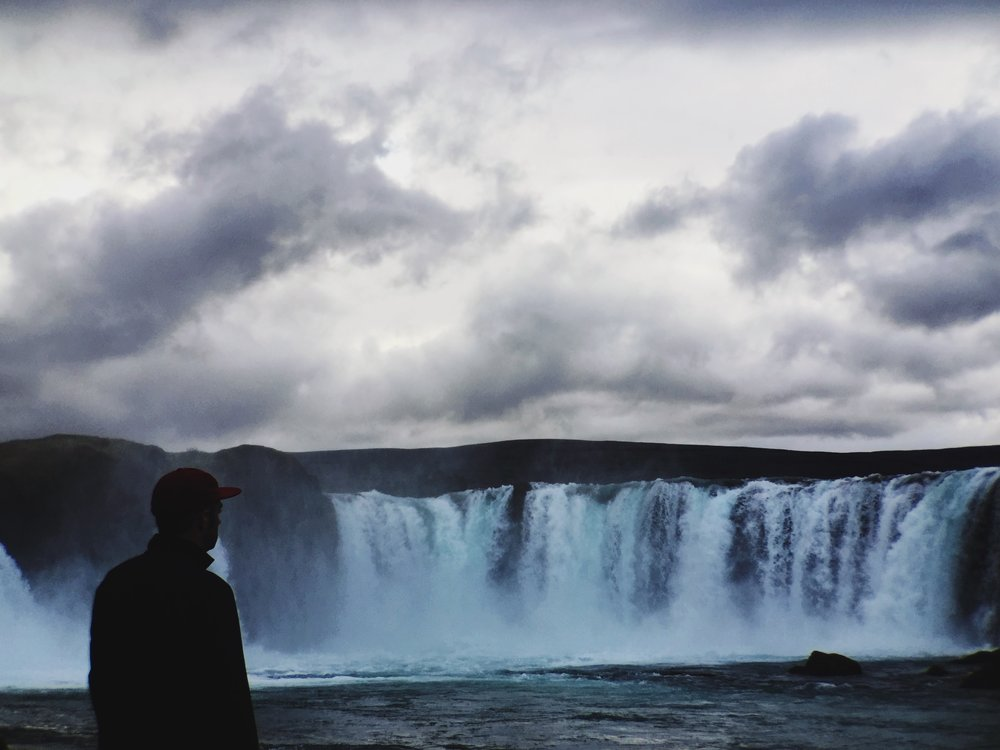 kyle at godafoss in iceland